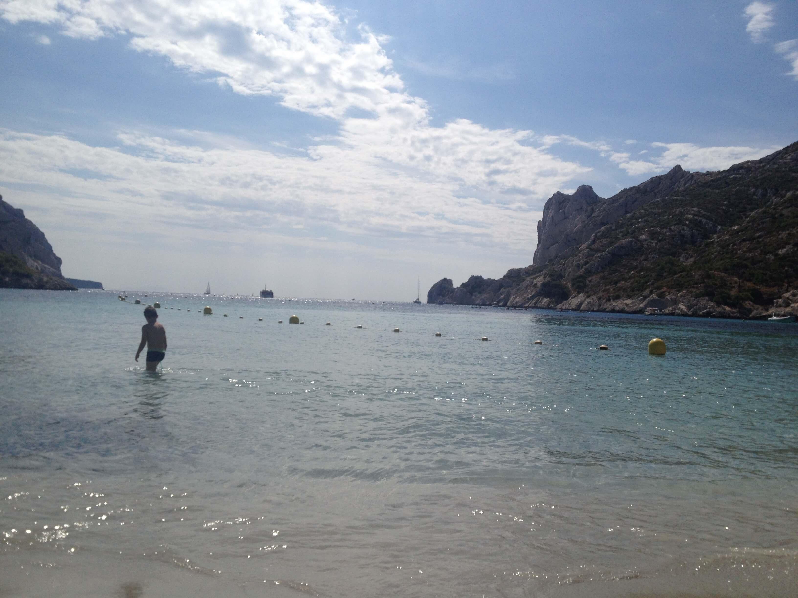 The beach at Calanque de Sormiou.