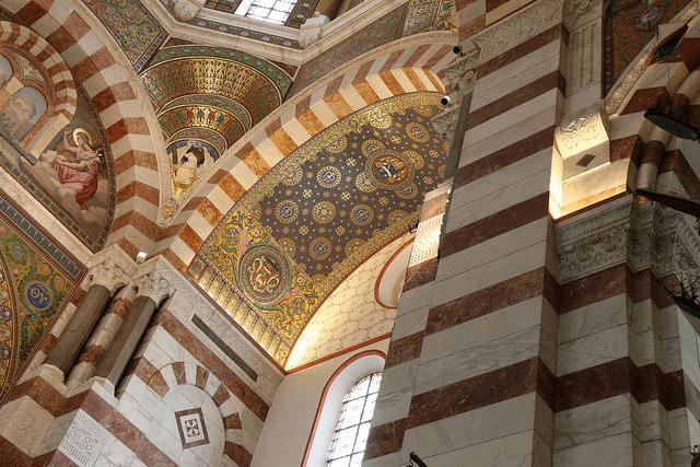 Interior, Notre-Dame de la Garde, Marseille. Taken by So_P via Flickr.