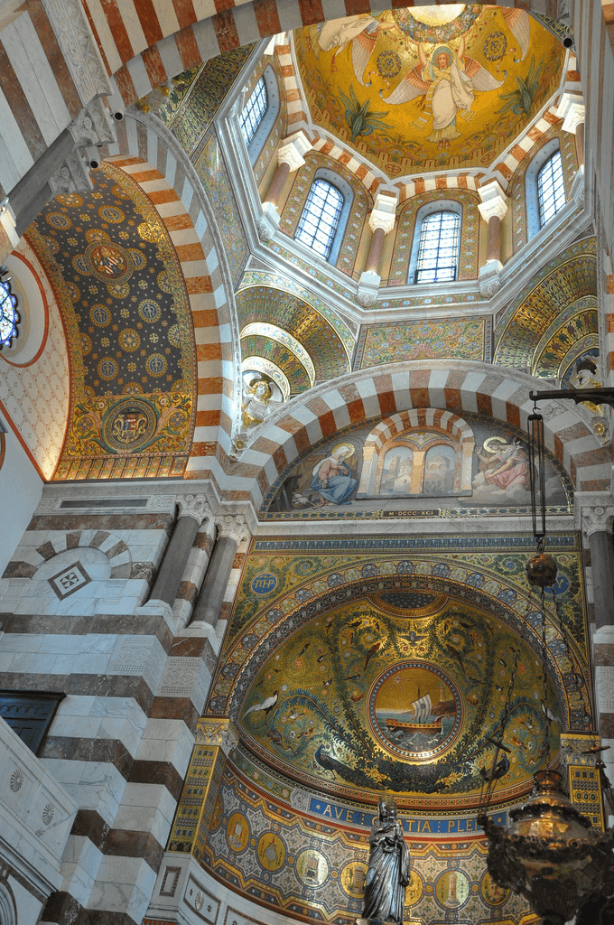 Interior, Notre-Dame de la Garde, Marseille. Taken by blue_quartz via Flickr.