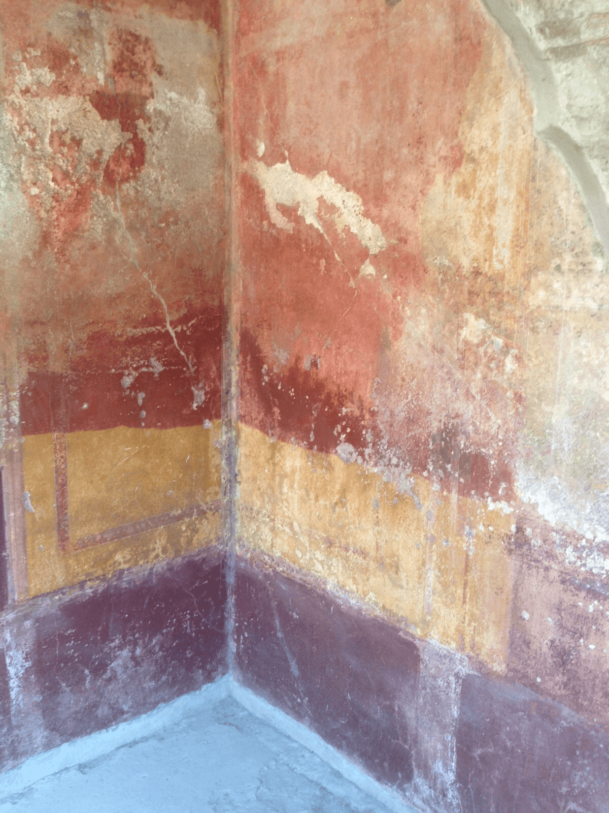 Painted wall in Pompeii.
