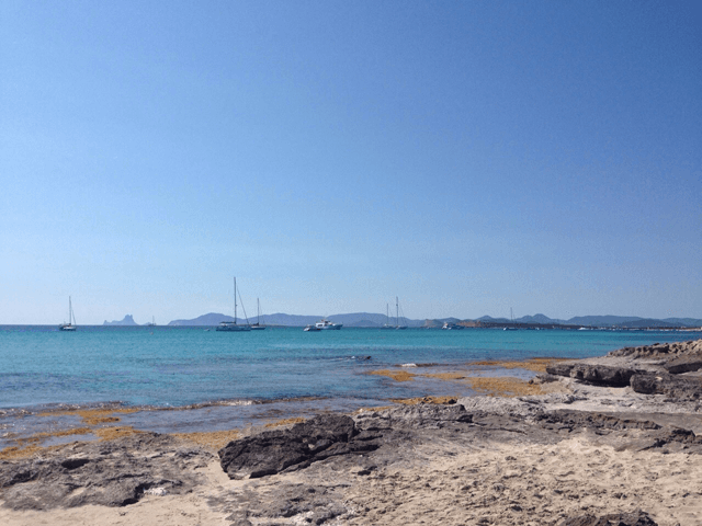 The view from Playa Illetes.