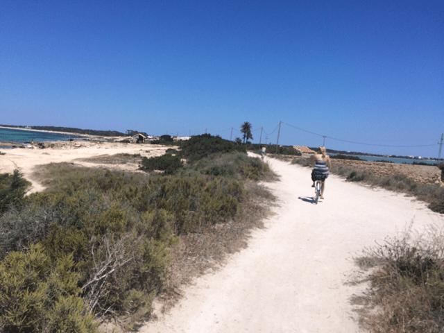 Riding our bikes to the beaches.