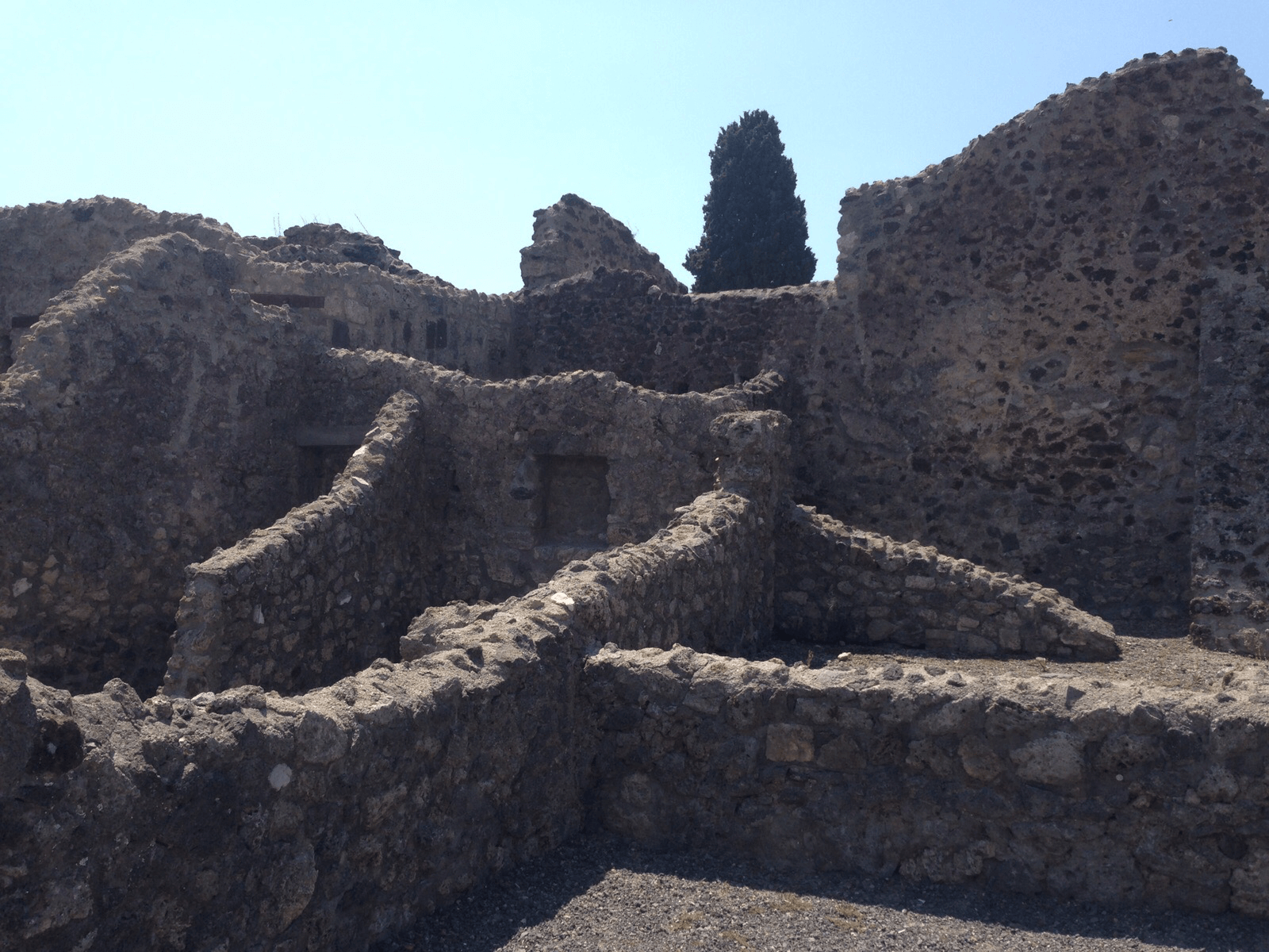 Ruins of a building in Pompeii.
