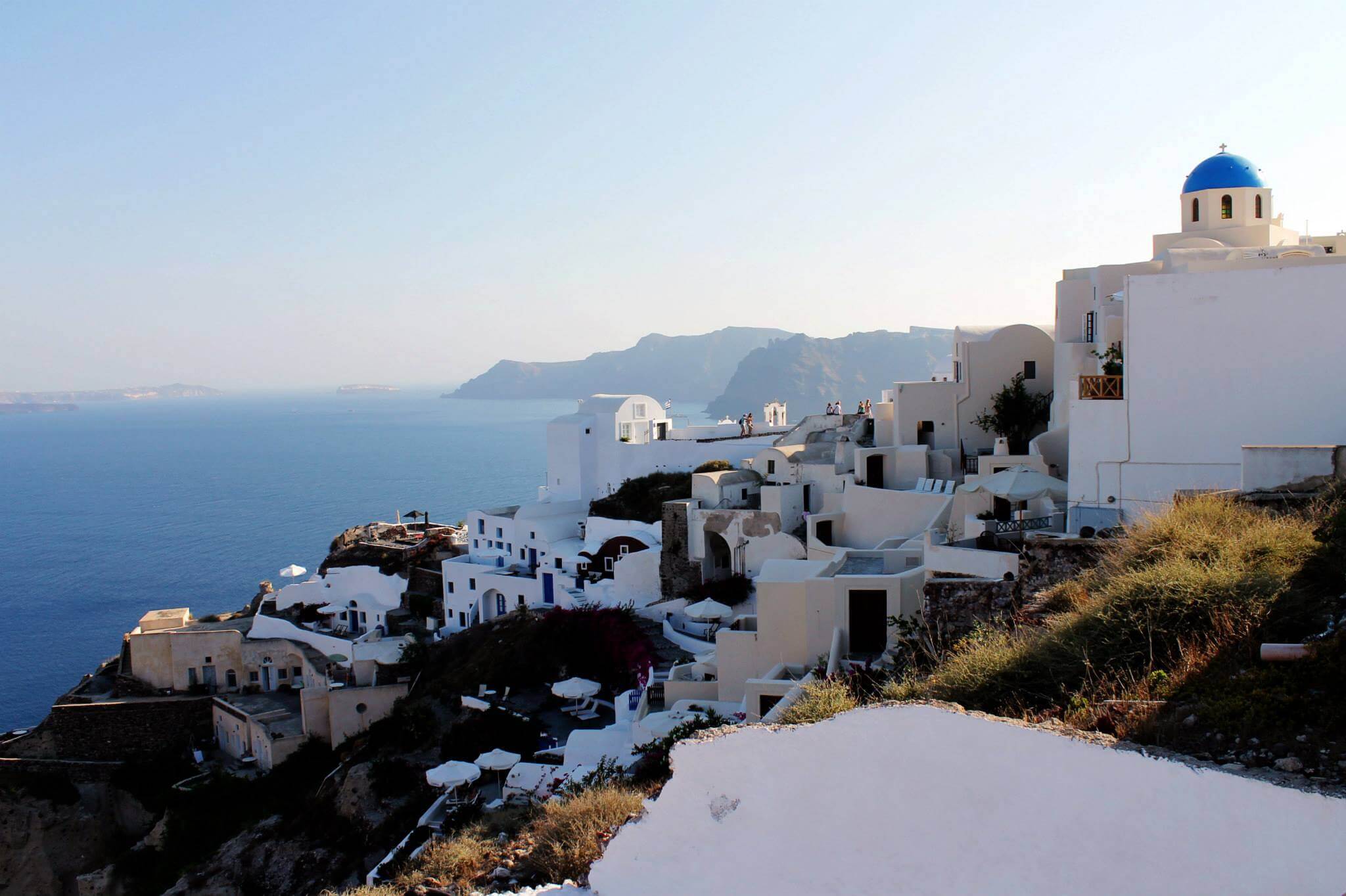 Homes on the cliff in Santorini. Taken by Kirstie.