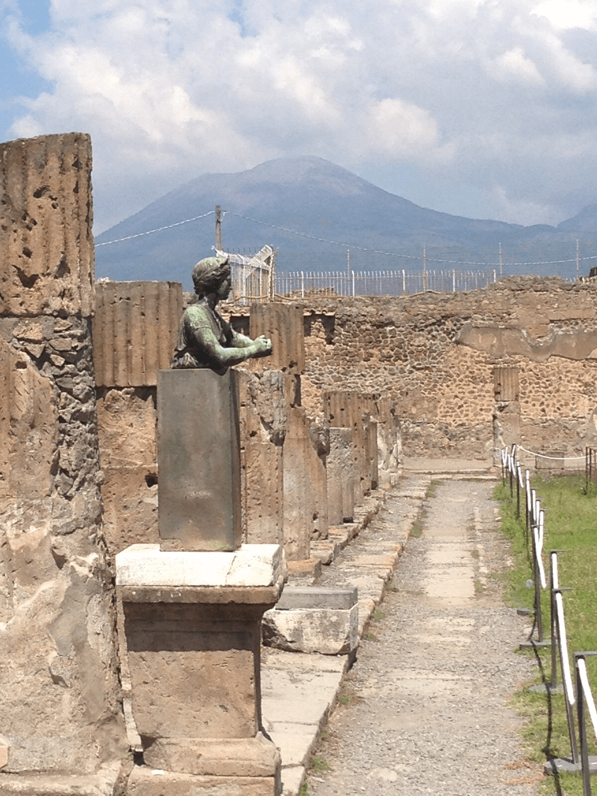 Sculpture in Pompeii.