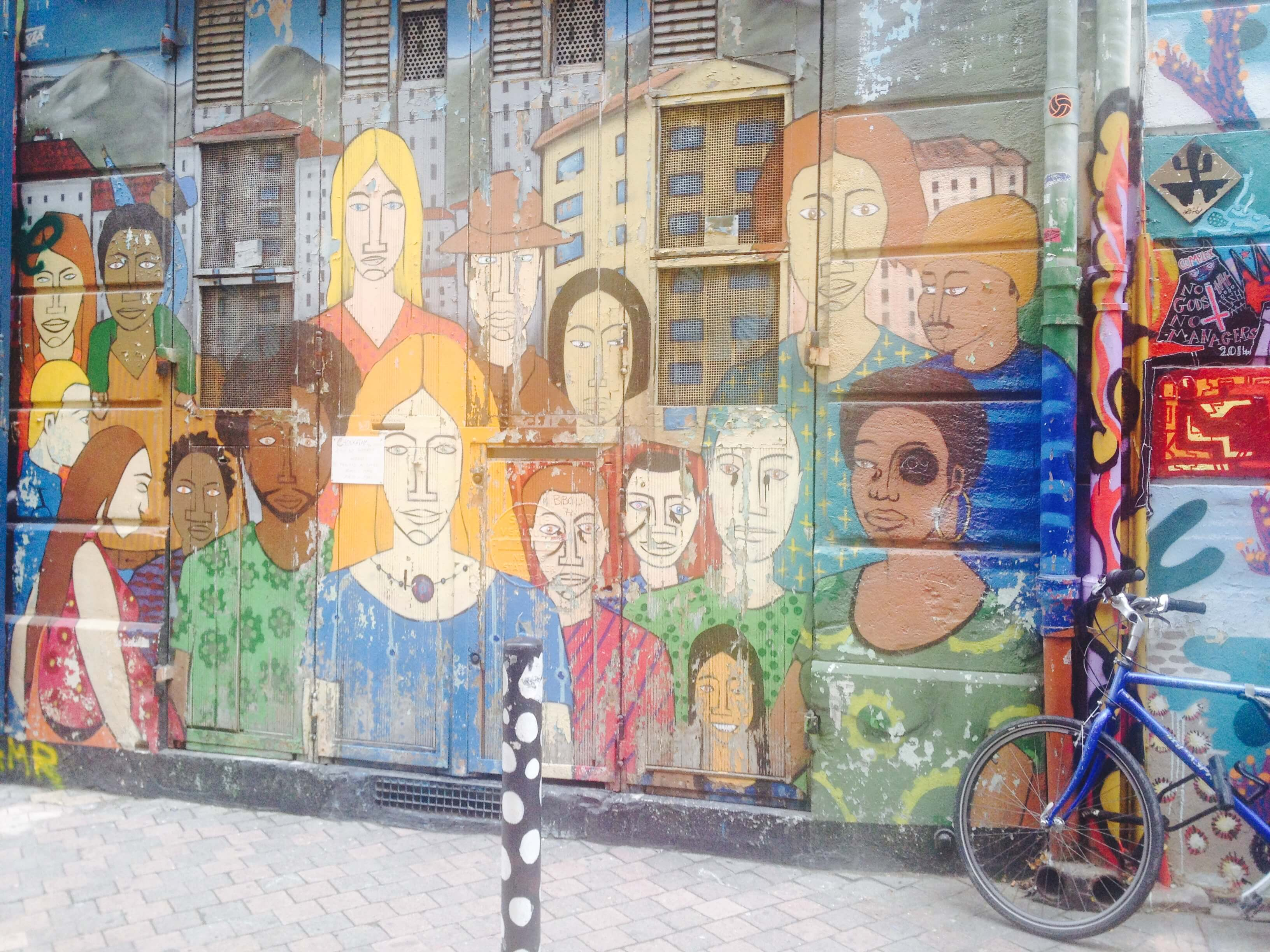 Street art in Cours Julien, Marseille.
