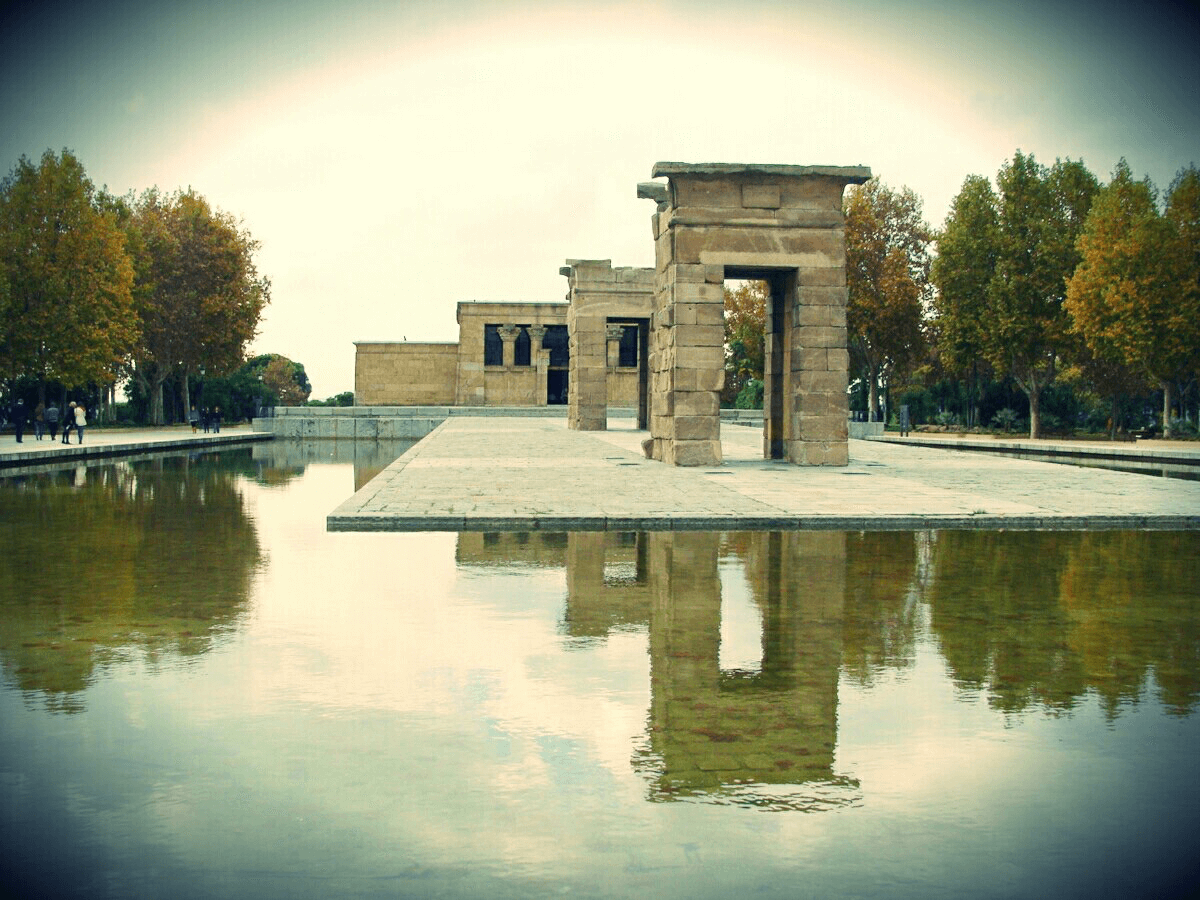 temple of debod during the daytime