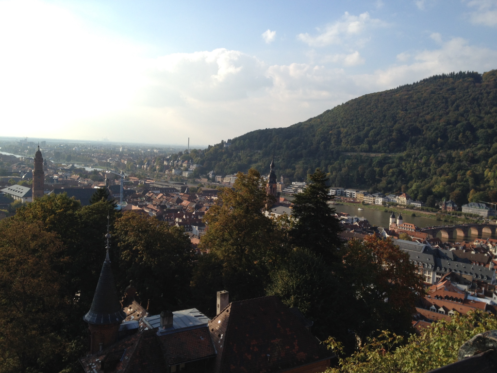 View from Heidelberg Castle.