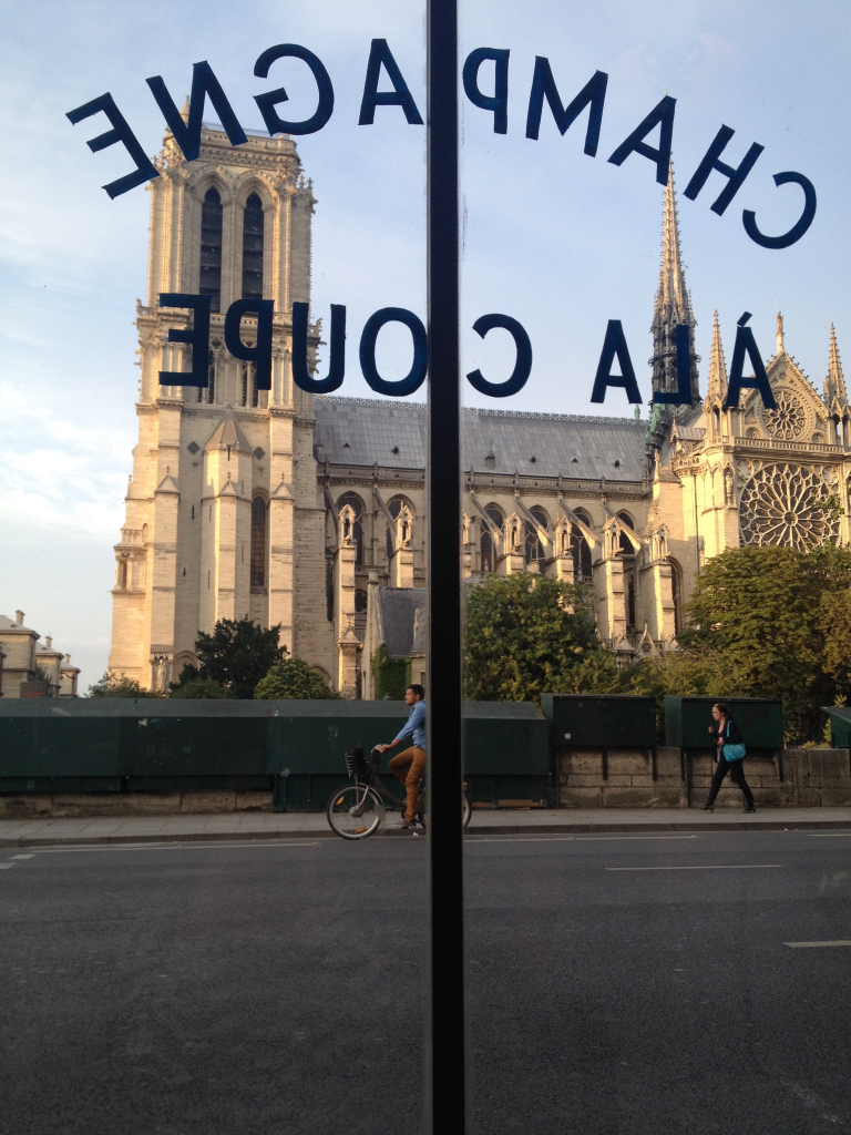 View of Notre Dame from the Café Panis, Paris