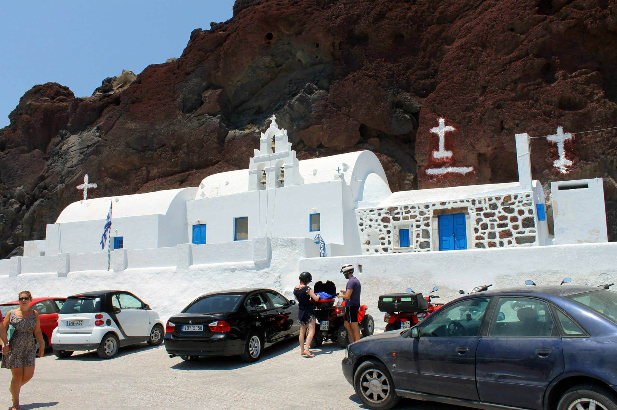 Agios Nikolaos church in Santorini, on the way to Red Beach. Taken by Kirstie.