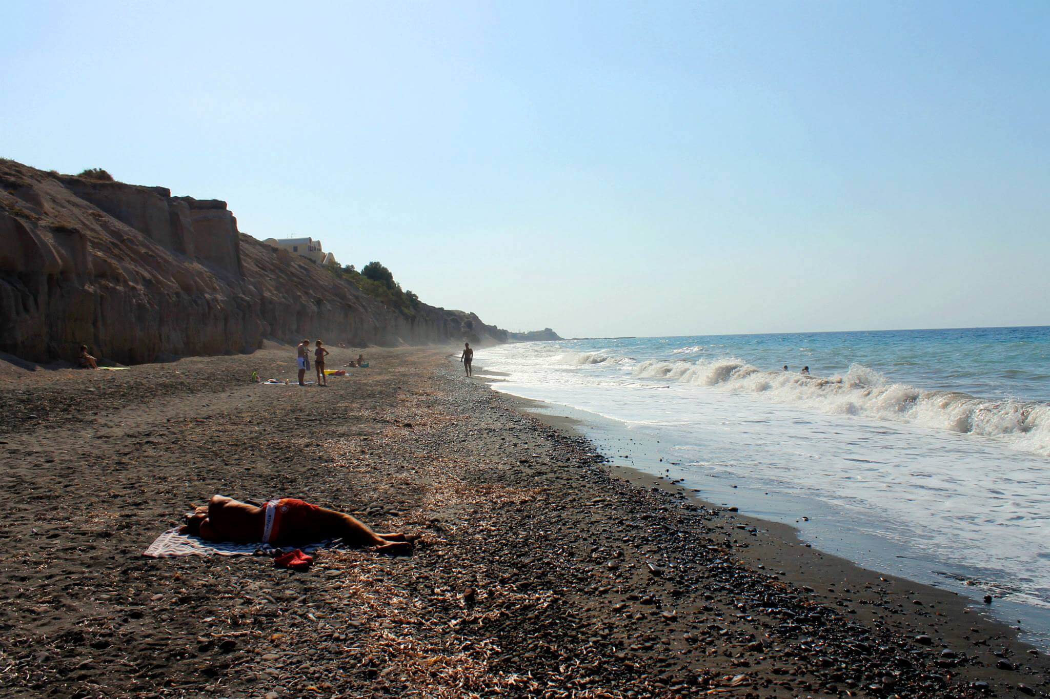 Vouvoulos Beach in Santorini. Taken by Kirstie.