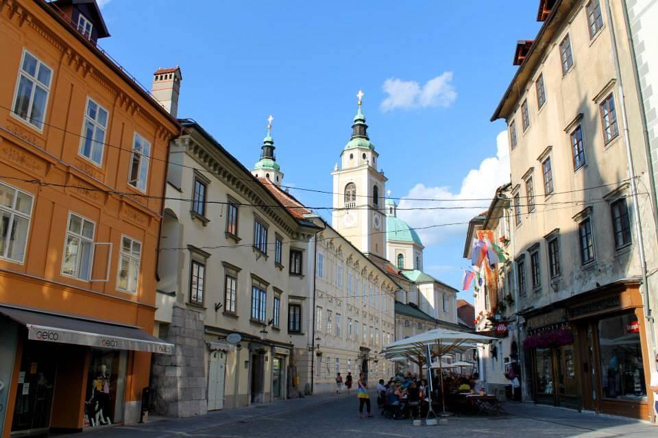 City street in Ljubljana, Slovenia. Taken by Kirstie.