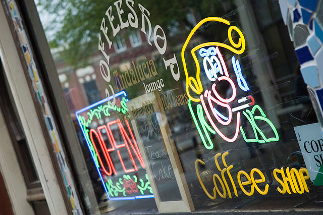 Coffeeshop in Amsterdam. Taken by mac_filko via Flickr.