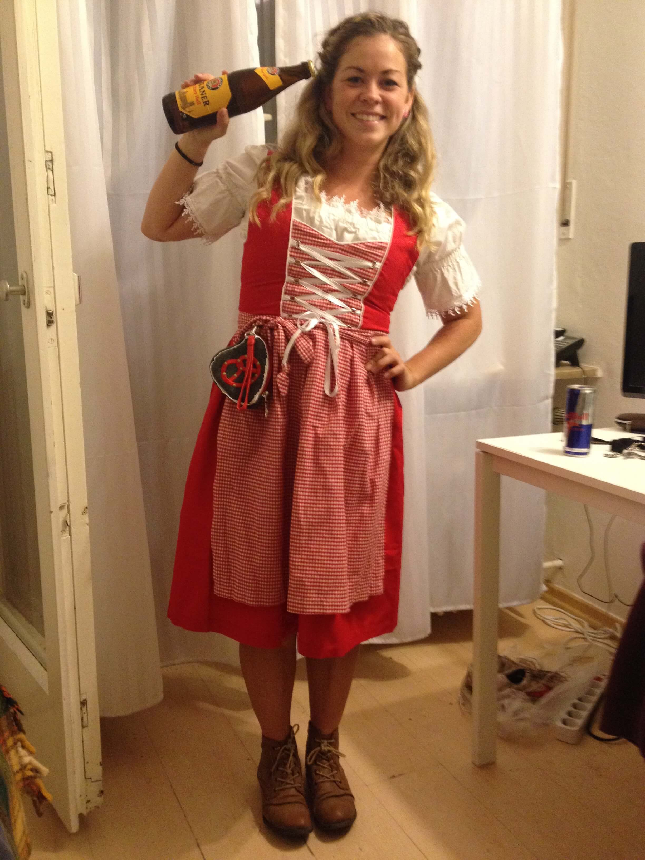 In my Dirndl and ready to go!