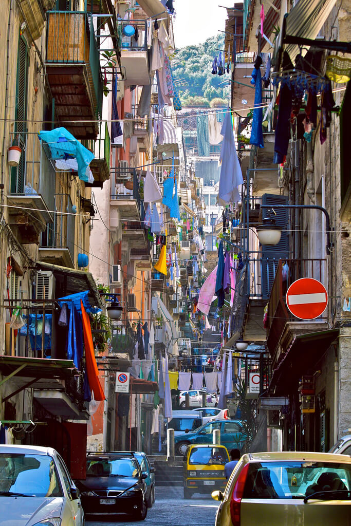 The old city in Naples. Taken by Jeroen Bennink via Flickr.