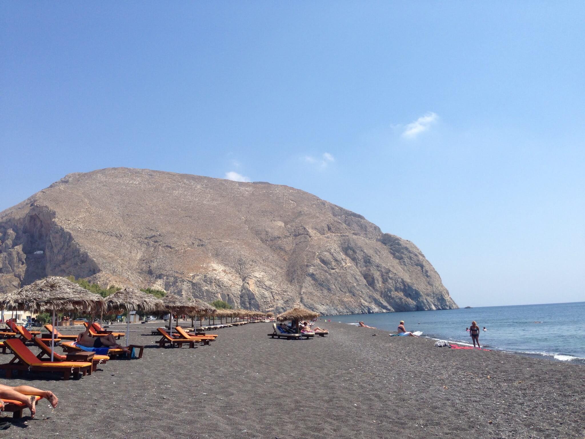 Perissa Beach, Santorini.
