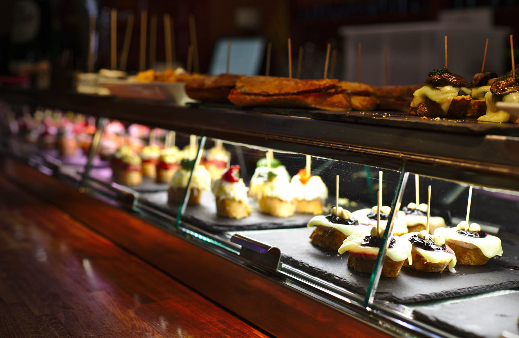 Pintxos at Lizarran. Taken by Dennis van Zuijlekom via Flickr.