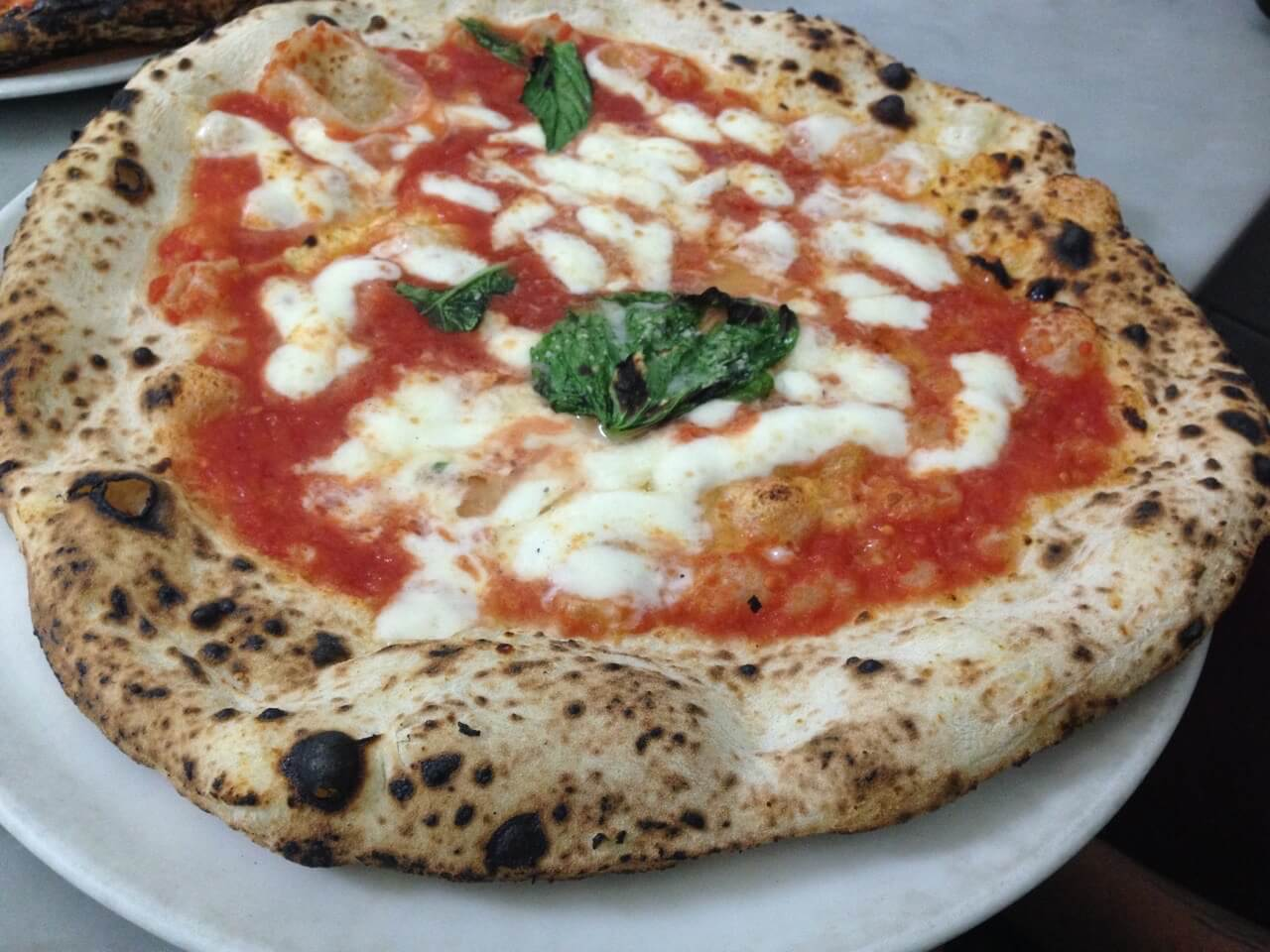 Margherita Pizza from L'Antica Pizzeria da Michele in Naples.