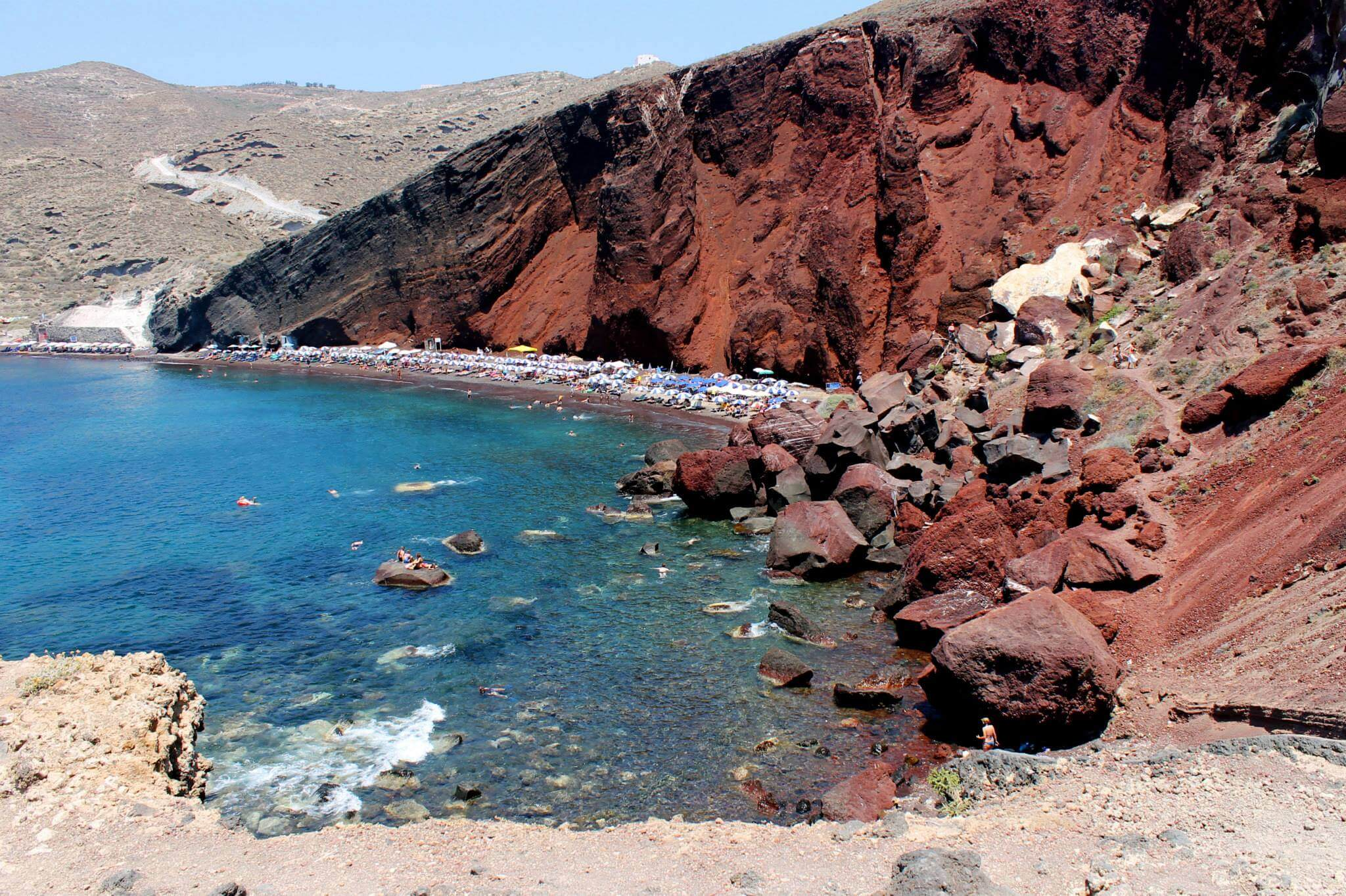 Red Beach in Santorini. Taken by Kirstie.