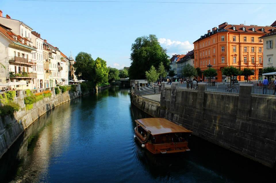 River in Ljubljana, Slovenia. Taken by Kirstie.
