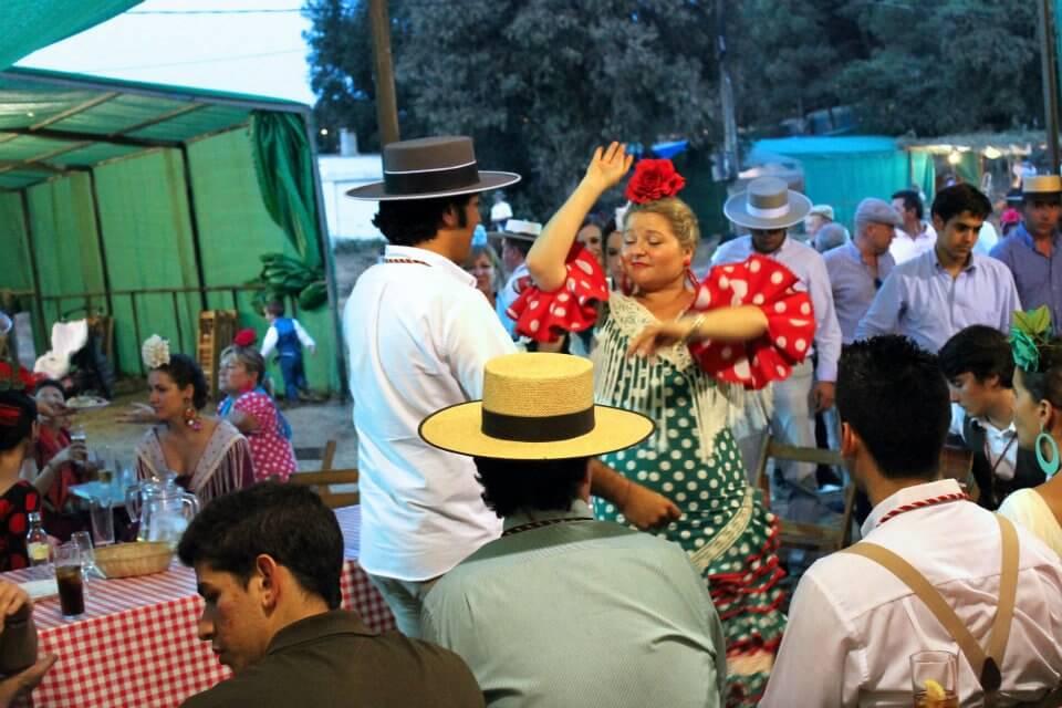 Dancing at the Romería de Montemayor, Moguer. Taken by Kirstie.