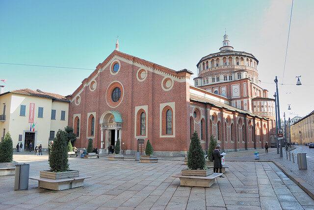 Santa Maria delle Grazie, Milan. Taken by Davide Oliva via Flickr.