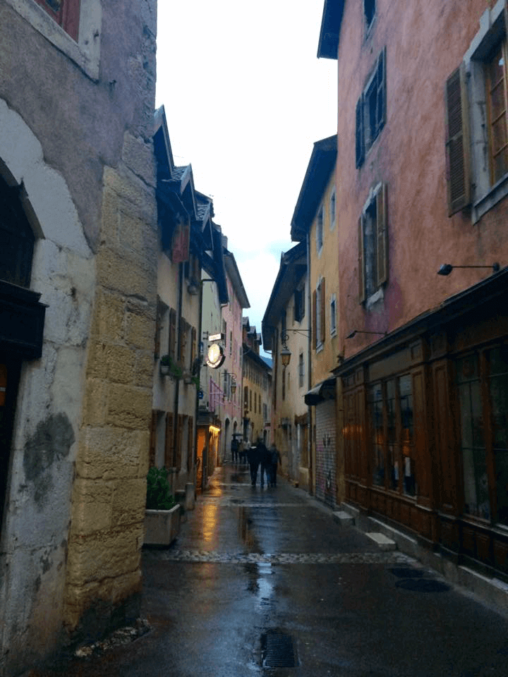 Streets of Annecy, France. Still charming in the rain!