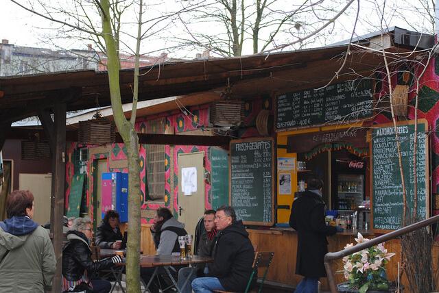 Cafe at Mauerpark Flea market. Taken by Oh-Berlin.de via Flickr.