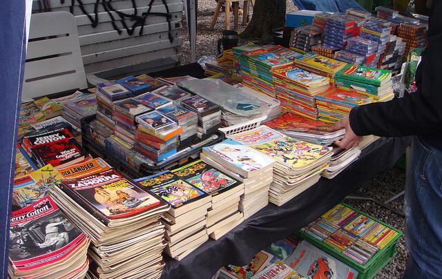 Comics for sale, Mauerpark. Taken by Karen Mardahl via Flickr.