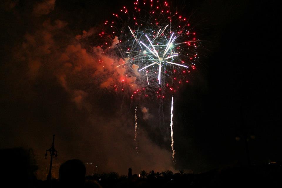 Fireworks on Saturday night at Las Fallas.