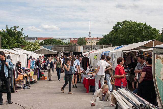 Mauerpark Flea market. Taken by Mika Stetsovski via Flickr.