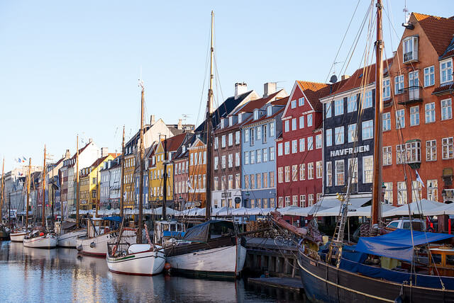 Nyhavn Harbor, Copenhagen. Taken by Roman Boed via Flickr.