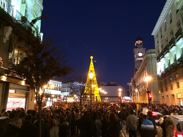 Christmas time in Puerta del Sol. Taken by Doc Searls via Flickr.
