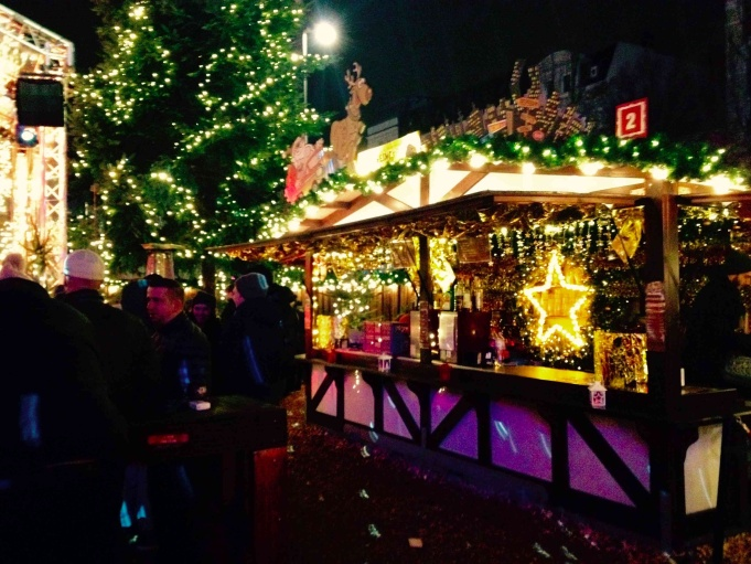 Drink stand at the St. Pauli Christmas Market.
