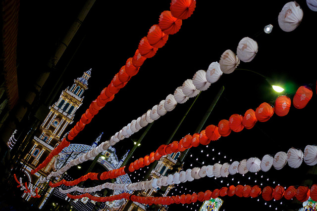 Entrance to the Feria de Abril. Taken by Edmund Gull via Flickr.