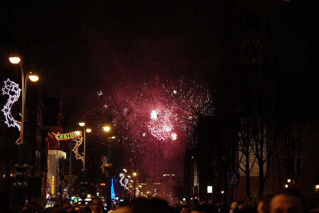 Fireworks in Amsterdam. Taken by LenDog64 via Flickr.