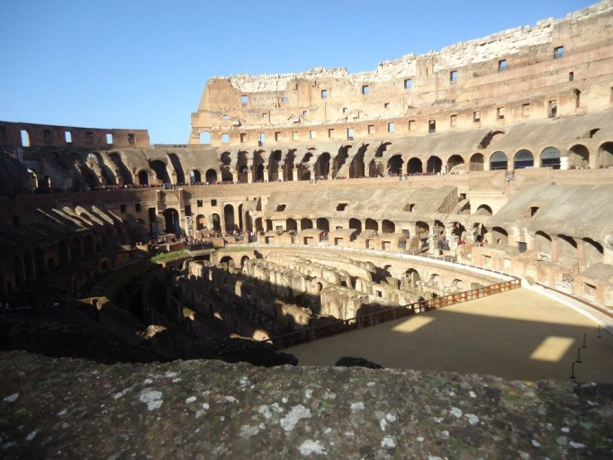 Interior of the Colosseum today.