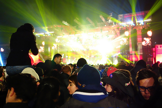 New Year's Eve at Brandenburger Tor. Taken by RedBull Trinker via Flickr.
