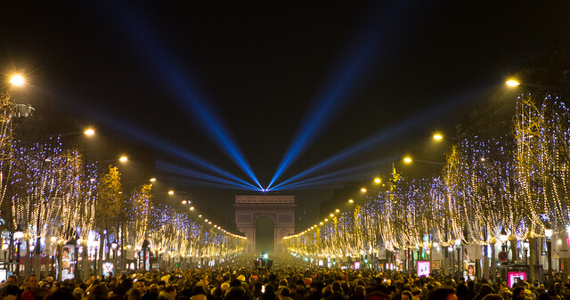 New Year's Eve at the Champs-Elysées. Taken by Falcon® Photography via Flickr.