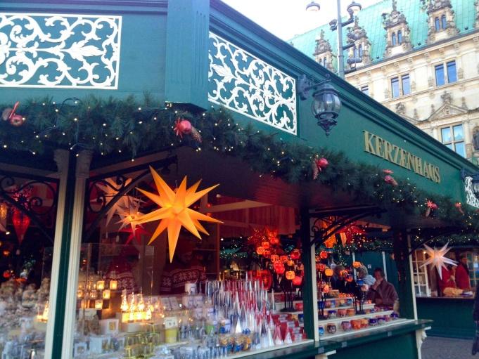 Shop at Hamburg Rathaus Christmas Market.