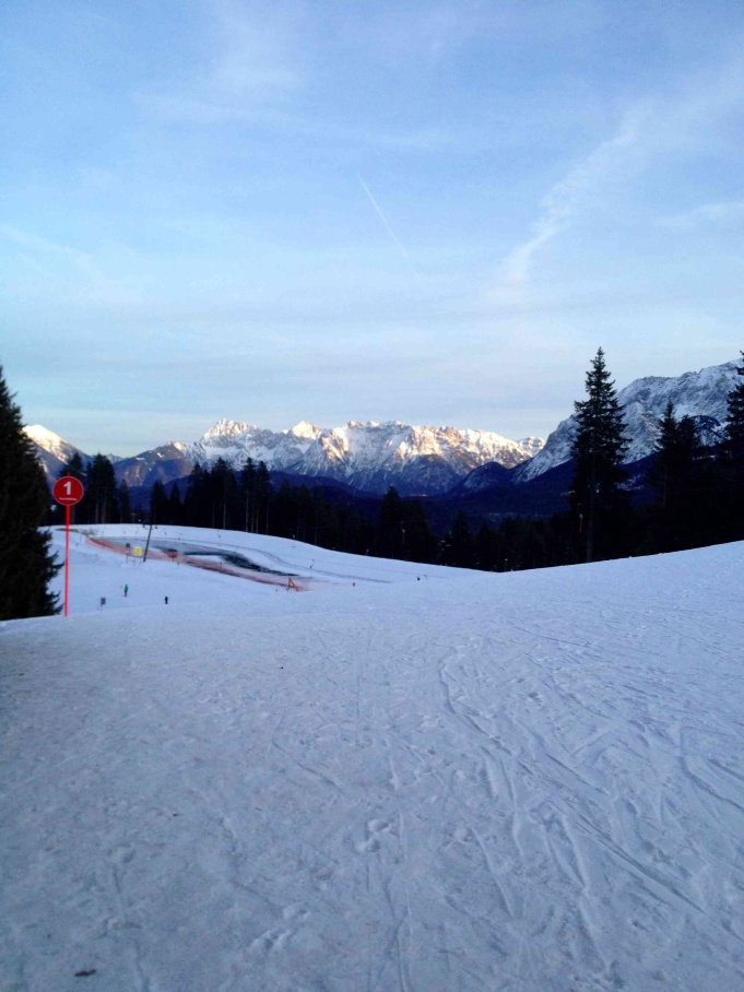 View from the top of the slopes in Garmisch-Partenkirchen.
