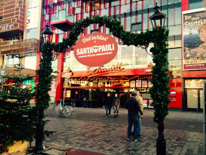 Entrance to the St. Pauli Christmas Market.