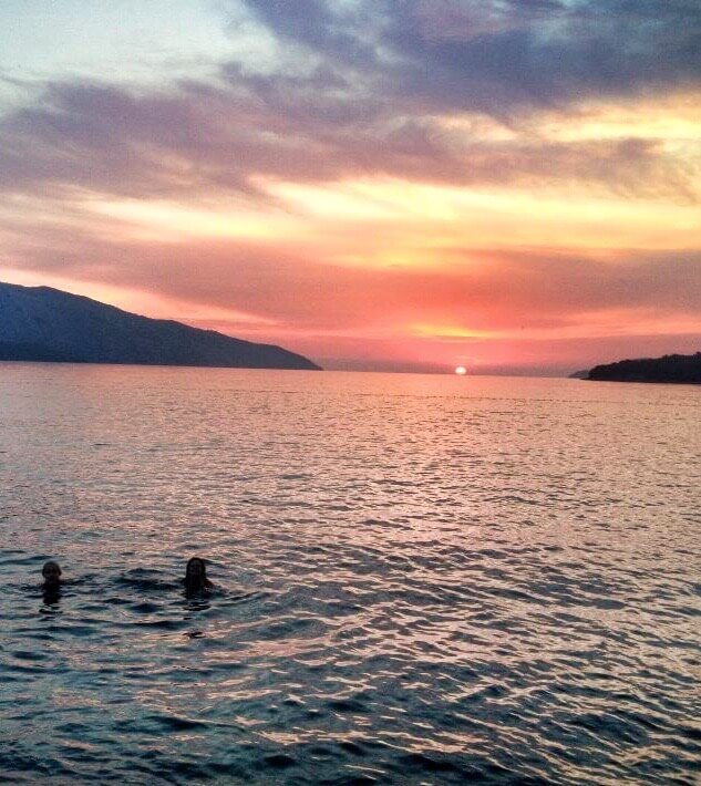 Like taking an unplanned sunset swim on the island of Hvar in Croatia!