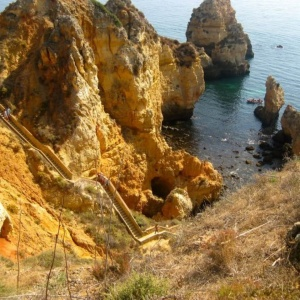 View from the top of the cliffs at Ponta Da Piedade.