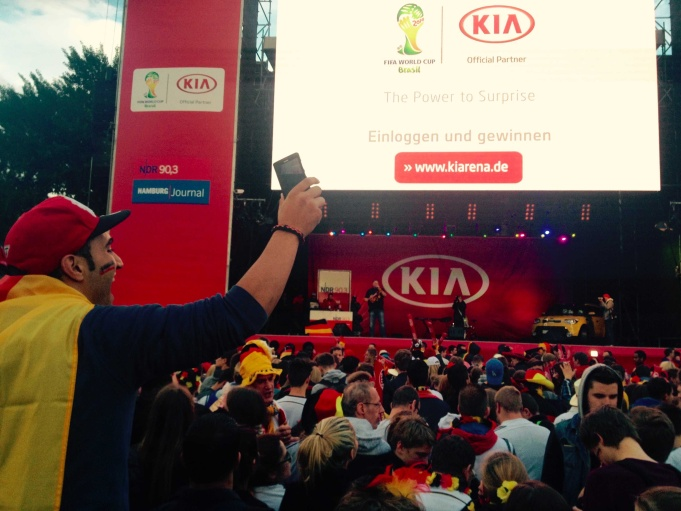 World Cup 2014 Fanfest in Hamburg, Germany.