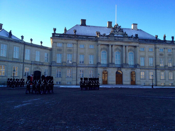 Amalienborg Palace with the Royal Guard.