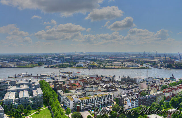 Bird's Eye View Portuguese Quarter, Hamburg. Taken by Glyn Lowe via Flickr.