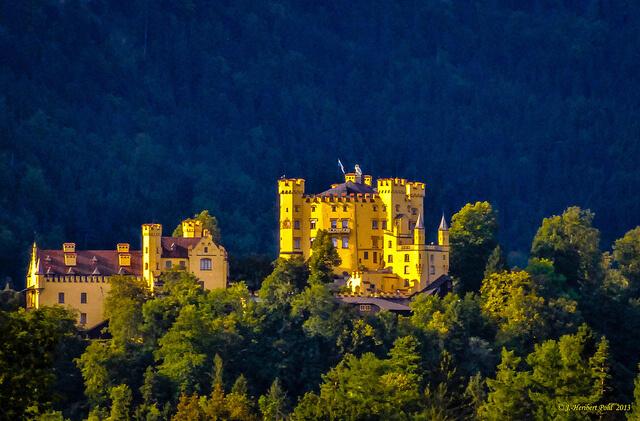 Hohenschwangau Castle. Taken by Polybert49 via Flickr.