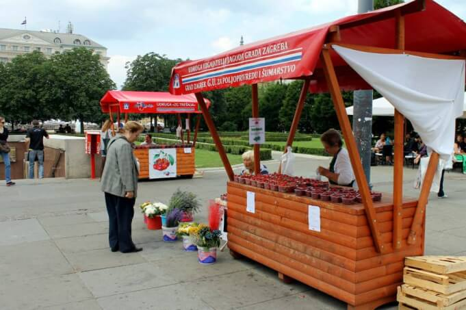Local strawberry stand in Zagreb, Croatia. Taken by Kirstie.